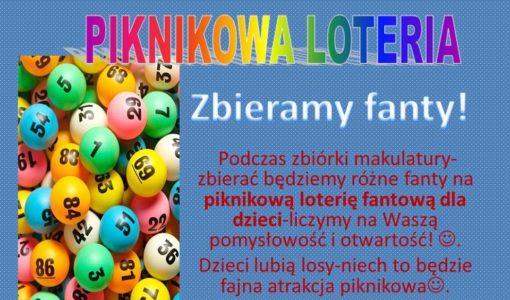 Piknikowa loteria organizowana przez Radę Rodziców!