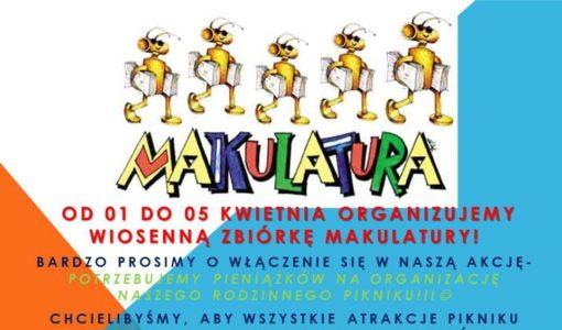 Wiosenna zbiórka makulatury organizowana przez Radę Rodziców!