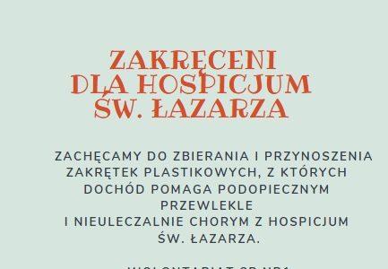 Zbieramy zakrętki dla Hospicjum Św. Łazarza!