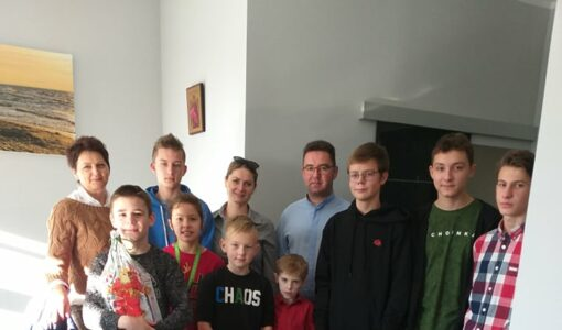 Wizyta w Domu Dziecka w Pawlikowicach.