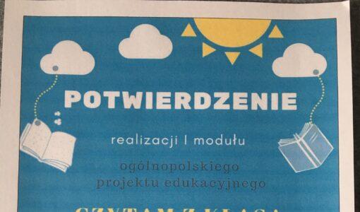 """Ogólnopolski Projekt Czytelniczy """"Czytam z Klasą lekturki spod chmurki"""""""