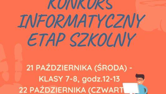Konkurs Informatyczny BÓBR-etap szkolny