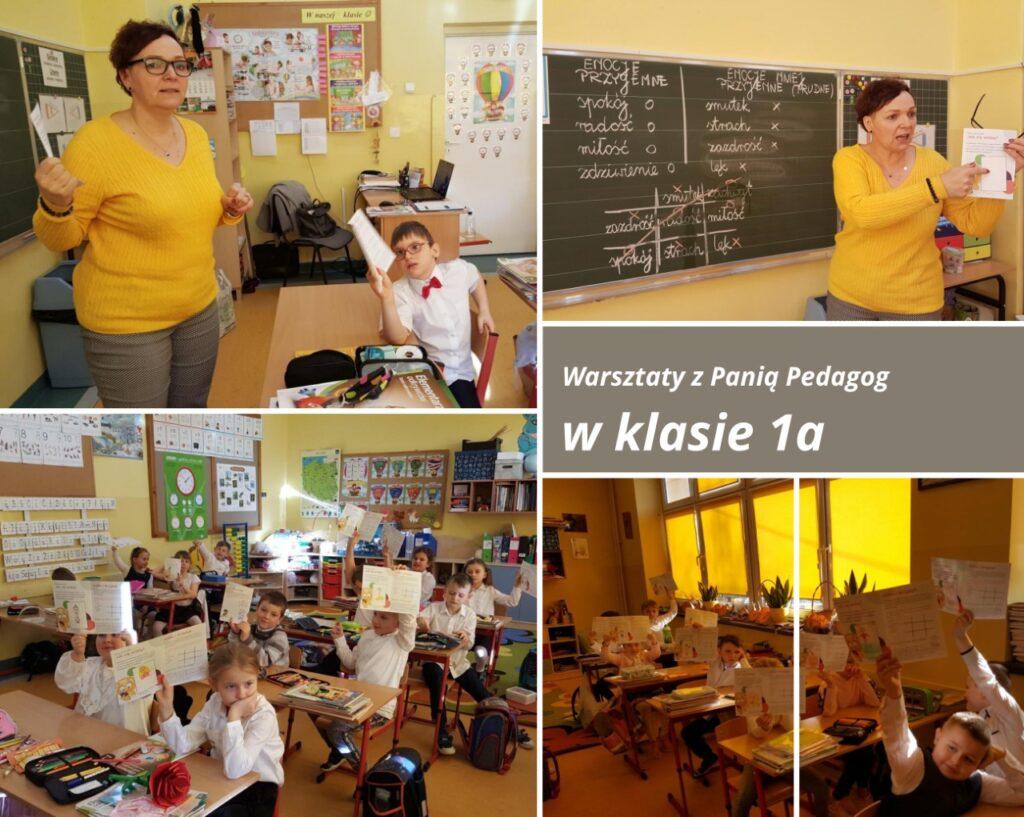 Warsztaty z Panią Pedagog w klasie 1a
